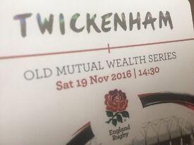 Rugby England v Fiji Tickets x 2