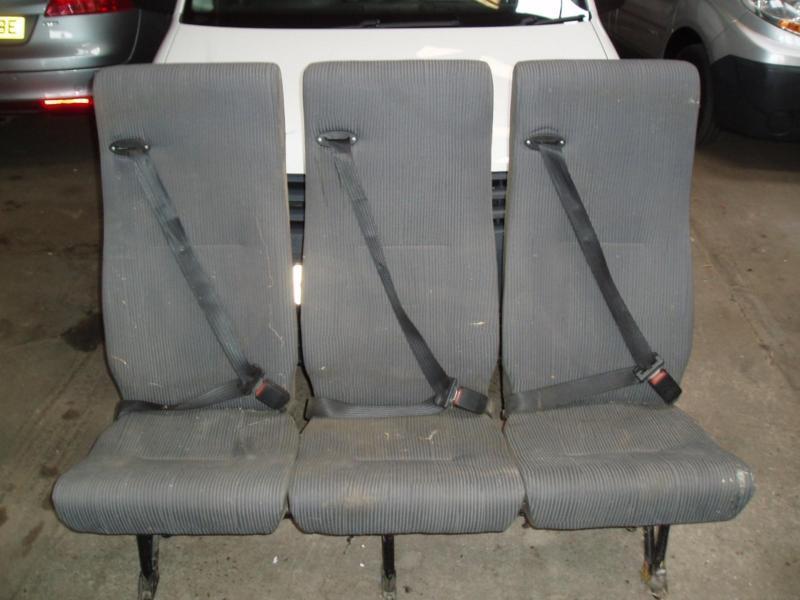 SET OF 3 SEATS IDEAL RACE VAN CREW VANCONVERSION ETC WITH SEAT BELTS