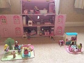 Rosebud dolls house, cafe and play park