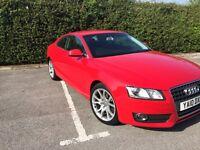 2010 (1st Reg Aug) – Audi A5 Sport 2.7 TDI Multitronic 2Door Red