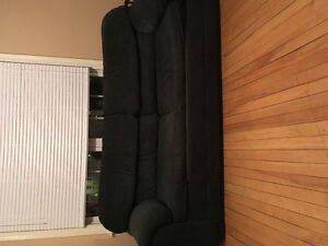 Couches, table and chairs, dresser, kitchen appliances