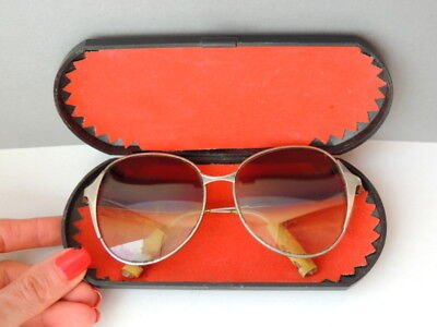 Rare 1950's Retro Vintage USSR Soviet Old Antique Sunglasses Fashionable Glass