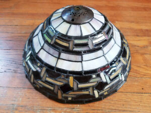 Beautiful Stained Glass Lampshade - one-of-a-kind artisan piece