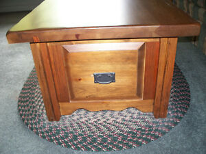 "SOLID PINE TABLE ""CHEST STYLE"" WITH STORAGE DRAWER Kawartha Lakes Peterborough Area image 3"
