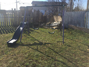 Swing set and two dressers for sale