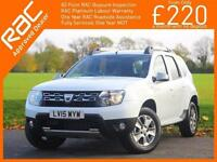 2015 Dacia Duster 1.5 dCi Turbo Diesel Laureate 6 Speed Sat Nav Bluetooth Parkin
