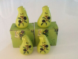 Lime Green Salt and Pepper Shakers Set