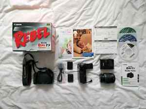 Canon Rebel T3 (1100D) with Box, 2 Batteries, and Battery Grip