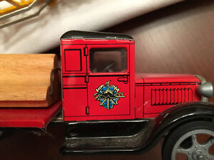 Tin Lithograph Fire Truck Windsor Region Ontario image 2