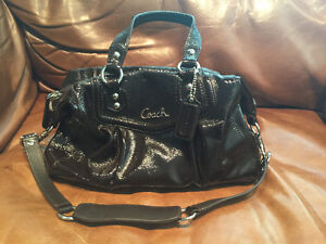 Authentic Coach Brown Patented Leather Purse - Brand New!