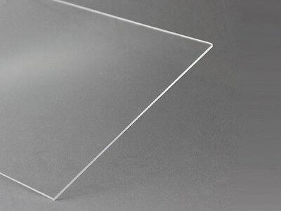(11,82 Euro/m²) 6 x Polystyrol Glas transparent klar Kunststoff 275x200x1,4mm