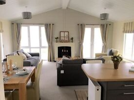 LUXURY STATIC LODGE FOR SALE SEA FRONT PITCH NORTH EAST COAST PET FRIENDLY