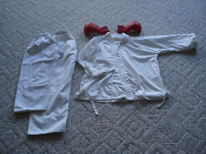 Childrens Karate Gi and gloves