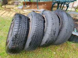 Tyres and steel rims