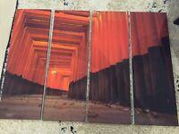 Four piece canvas print set