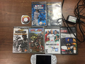 Used PSP with 7 games and charger