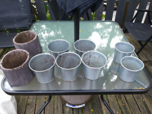 Planters, flower pots, gardening tools, outside storage