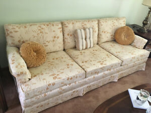 Matching sofa and chair for sale