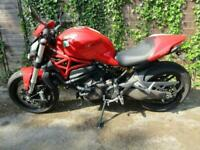 2015 RED DUCATI M821 MONSTER ABS JUST 6800 MILES FULL HISTORY ULEZ COMPLIANT