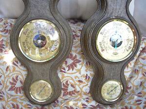 Pair of Vintage Fisher Barometers/Thermometers Made in France. Kitchener / Waterloo Kitchener Area image 2
