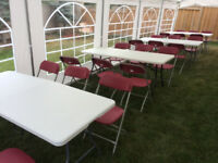 Table, Chair, LED lights and Tent Rentals. CHEAP!