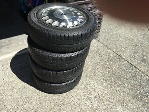 Four Michelin 195/60R15 X-Ice Radial WinTires on 1994 Honda Rims