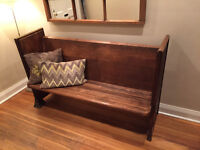 Bench Seat Antique Church Pew