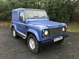 2003 Land Rover 90 Defender County Td5, Metallic blue