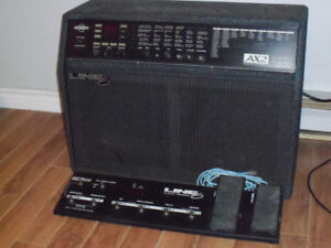 Line 6 AX2 212 amp and pedal board