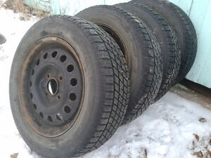 4 x NORDIC ICETRAC – P205/60R15 TIRES ON RIMS