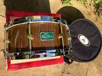 "Canopus Zelkova 14x6.5"" snare drum rare!"