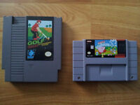 SNES Kirby's Avalanche and NES Golf