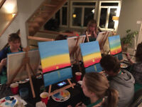 Paint Party in Your Home or at Work