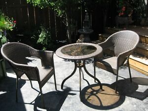 Wicker table and chairs Patio Set