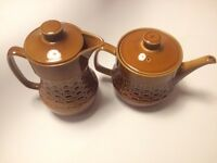 Vintage wedgewood tea pot and coffee pot