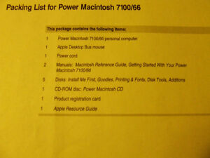 Power Macintosh 7100/66 Software & Manuals (Complete) - $30.00