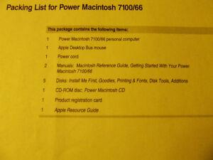 Power Macintosh 7100/66 Software & Manuals (Complete) - $30.00 Belleville Belleville Area image 1