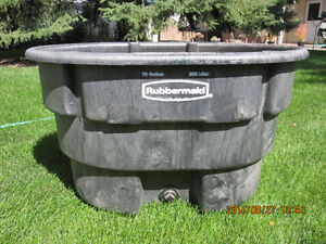 70 gallon Rubbermaid Stock Tank - ideal for wintering pond fish