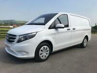 2016 66 MERCEDES-BENZ VITO 111 CDI 115 BHP LONG 35TH MILES IN WHITE DIESEL