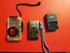 Canon Powershot Elph100 HS + waterproof case