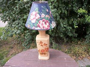 CERAMIC FLORAL TABLE LAMP  WITH  FLORAL  SHADE London Ontario image 1