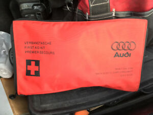 Genuine Audi First Aid Kit in Red Audi Bag