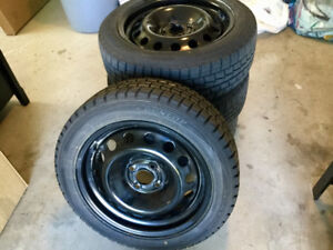 Great Price on a set of (4) Winter Tires on Steel Wheels- 4 Bolt