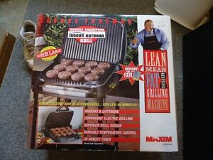 NEW George Foreman Grill Indoor Outdoor with stand