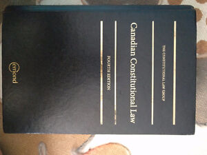 Canadian Constitutional Law 4th Edition