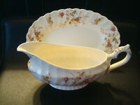 Antique Heritage Gravy Boat and Dish by Myott, England. N.Mint