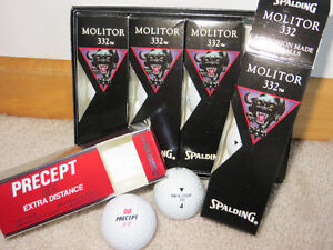 FIVE BOXES OF NEW GOLF BALLS
