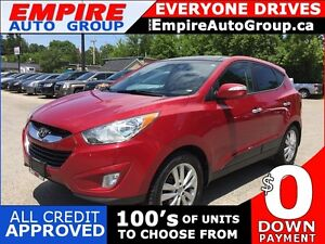 2013 HYUNDAI TUCSON GLS PZEV * AWD * LEATHER * PANO SUNROOF * BL