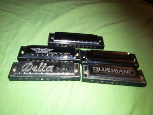 For sale  harmonicas lot all for 35 dollars.