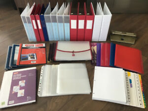 HUGE LOT OF 75+ BRAND NEW OFFICE SCHOOL TEACHER SUPPLIES BINDERS